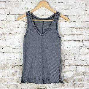 Lululemon striped v neck athletic tank top